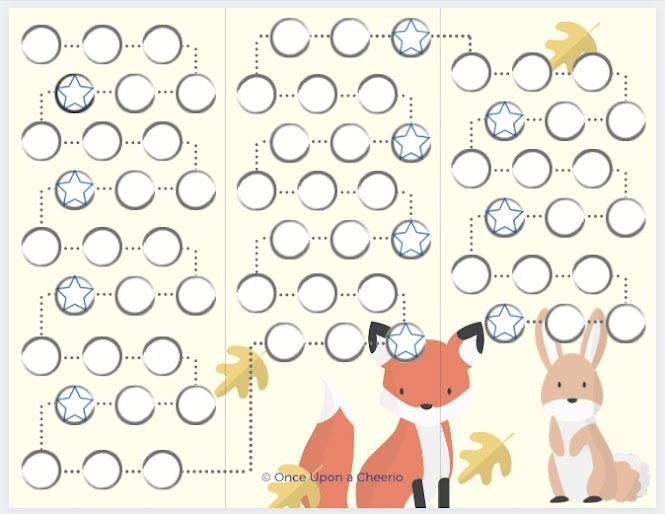 Free reward chart printable - woodland animals
