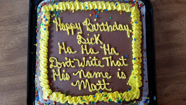50 Hilarious Photos Of People Who Took Instructions Too Literally - A Perfect Birthday Cake