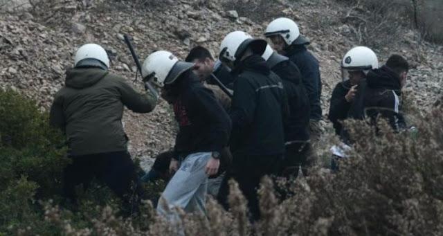 ΜΑΤ ή συμμορία; – Άνδρες των ΜΑΤ με πολιτικά κυνηγούν και ξυλοκοπούν άγρια πολίτες στη Χίο – VIDEO