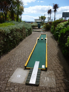 Crazy Golf course at Tucks Plot in Dawlish, Devon
