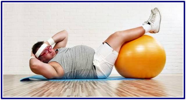 Entrenamiento de los músculos abdominales en personas con obesidad