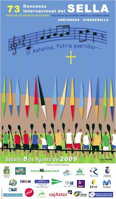 Cartel del 73 Descenso Internacional del Sella, piraguas 2009