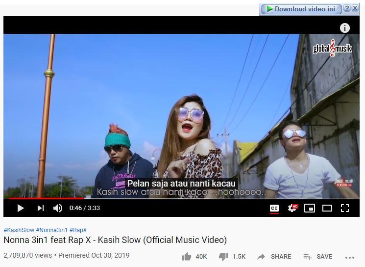 download lagu kasih slow nonna feat rap x