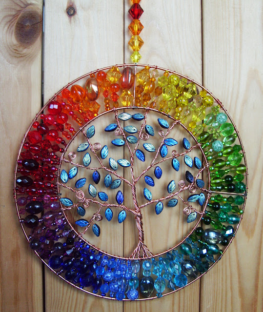 tree of life in a rainbow of colours
