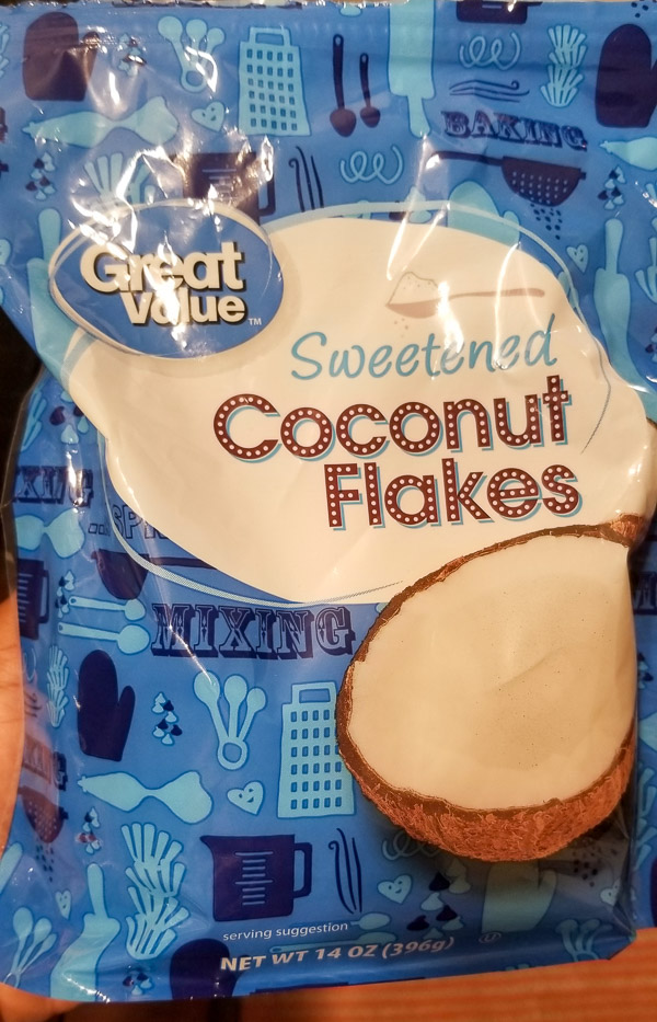 Great Value coconut flakes