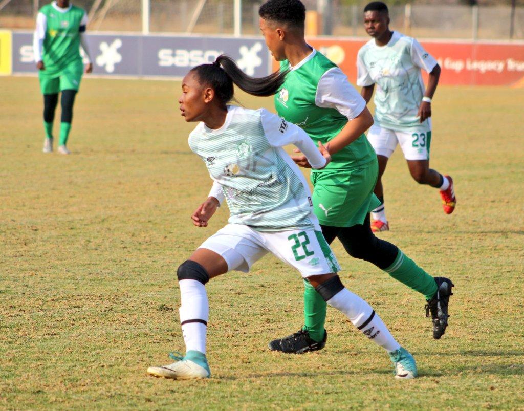 Bloemfontein Celtic Ladies during the 4-1 win over Golden Ladies