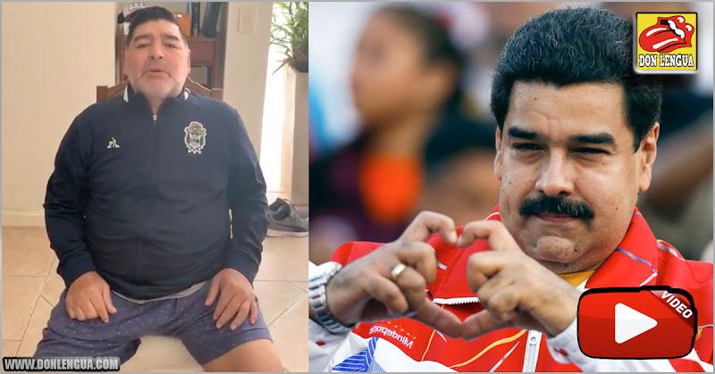 Maradona en Boxers le envió el feliz Cumpleaños a Maduro