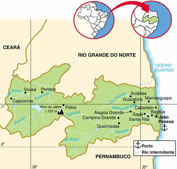 PARAÍBA, ASPECTOS GEOGRÁFICOS E SOCIOECONÔMICOS DA PARAÍBA