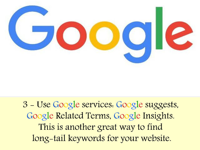 using google services to find long tail keywords