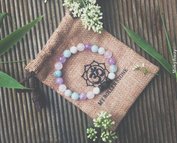 Bracelet tendance en pierres naturelles My Roller Stone