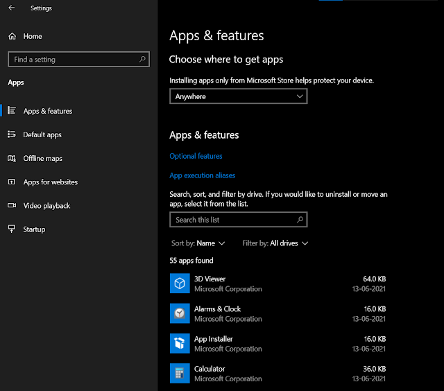 Uninstall Apps and Program from Windows