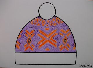 czapka w skandynawskie wzory