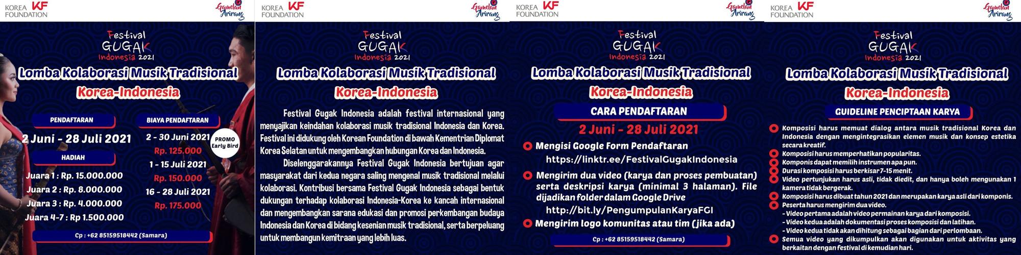 Lomba Kolaborasi Musik Tradisional Indonesia-Korea
