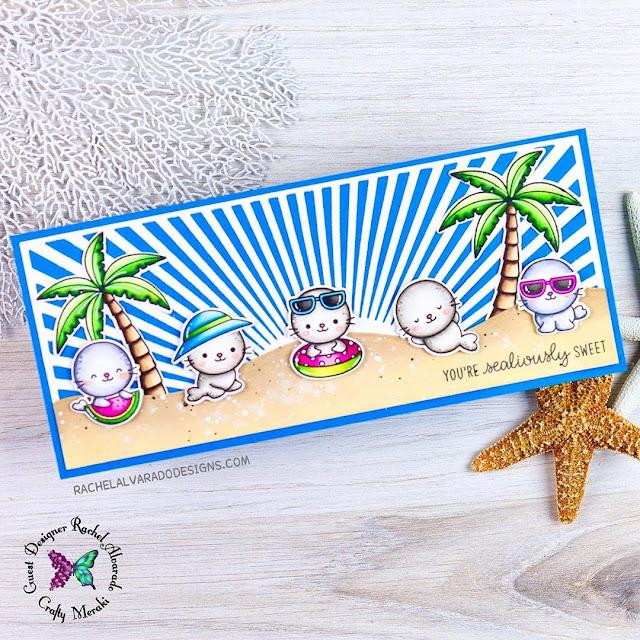 Sunny Studio Stamps: Sealiously Sweet Sending Sunshine Customer Card by Rachel Alvarado
