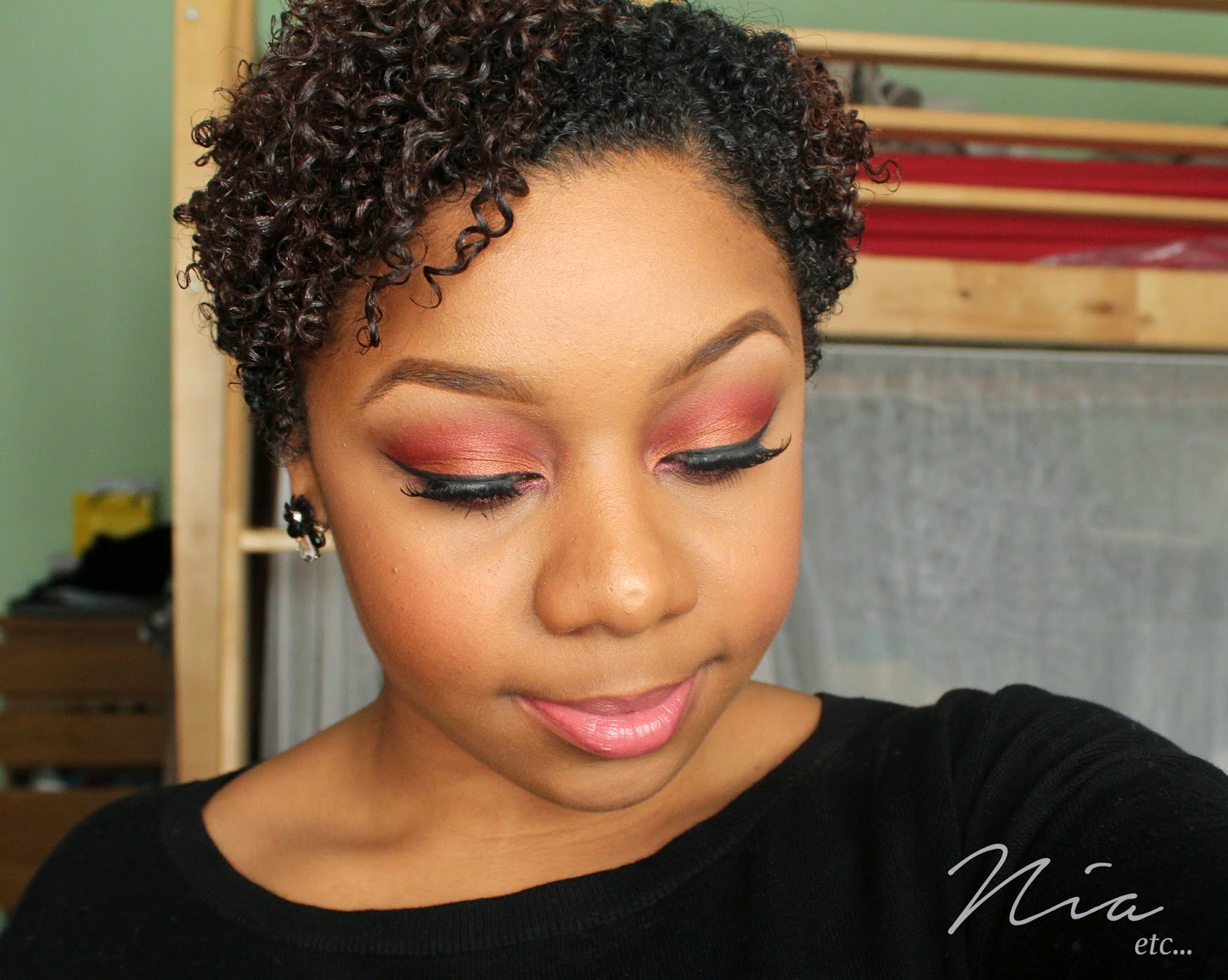 Summertime Orange and Red MakeUp Look 2