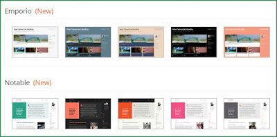 Blogger updated new templates for blogs