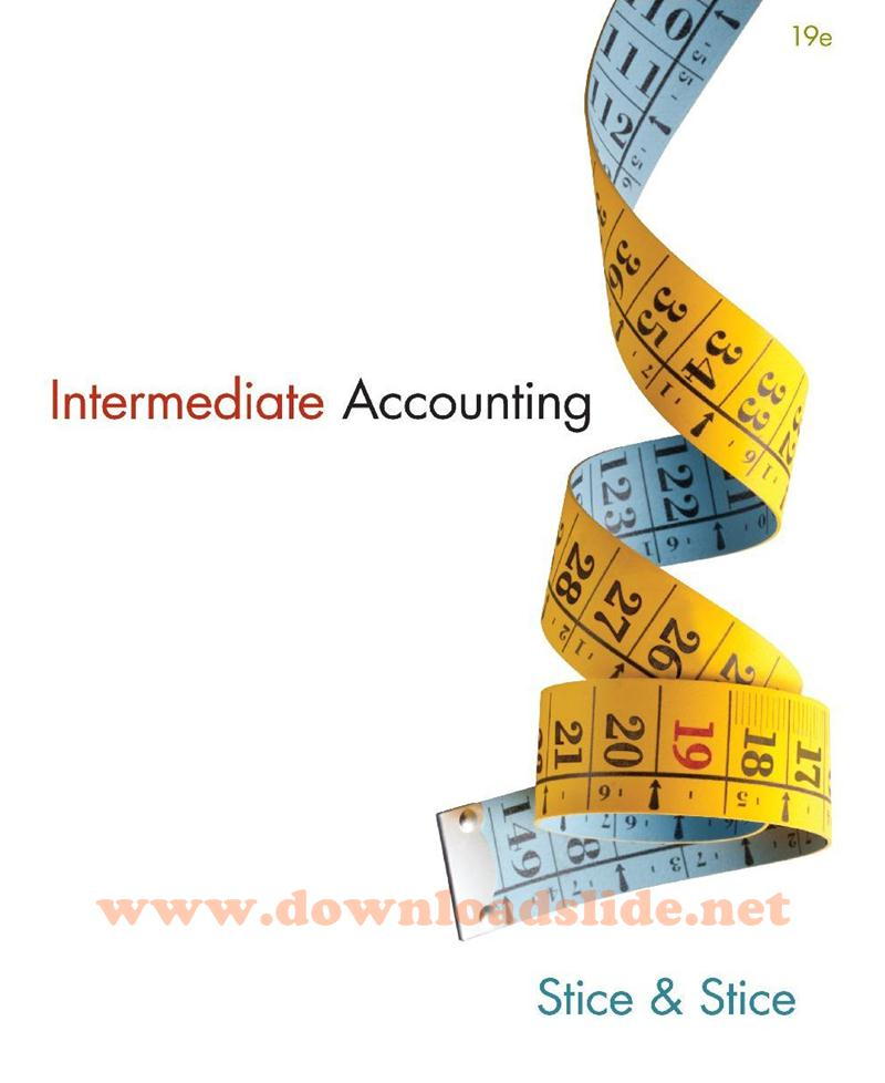 Accounting test banks and solution manuals ebook array ebook intermediate accounting 19th edition by stice u0026 stice rh downloadslide net ebook solution manual fandeluxe Images