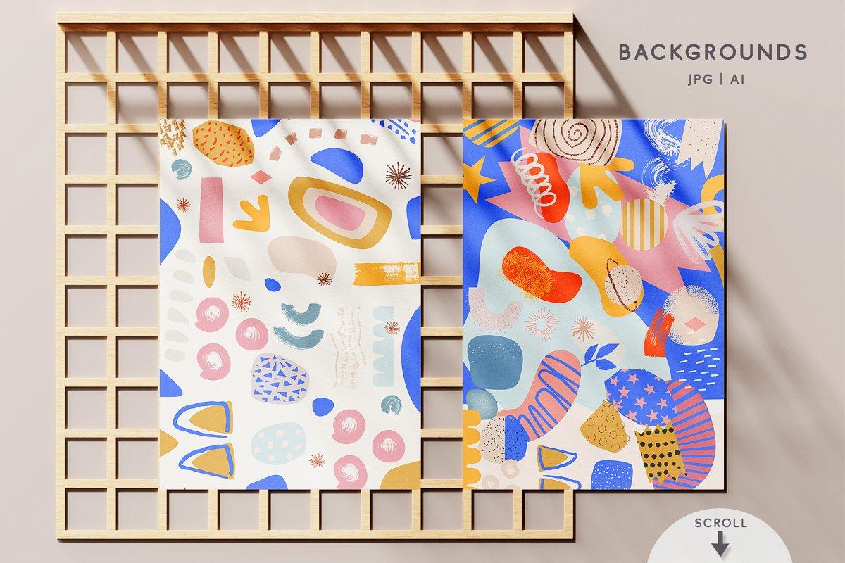 Doughnut Cutouts Set (PNG, AI, JPG, EPS, PAT) - Ngcloudy.com