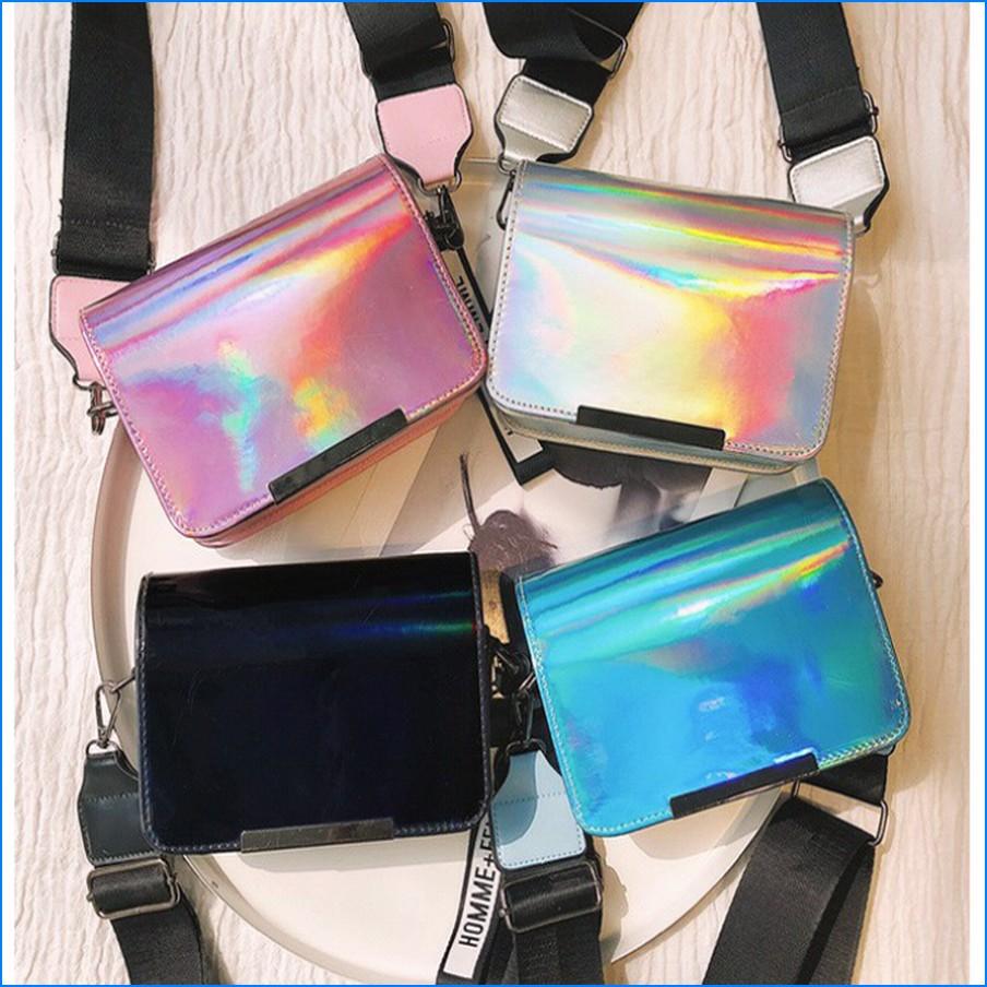 supplier tas hologram selempang wanita unicorn model