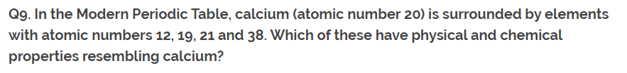 Class 10th Ch-5 Ncert Questions Answer Periodic Table Q9.