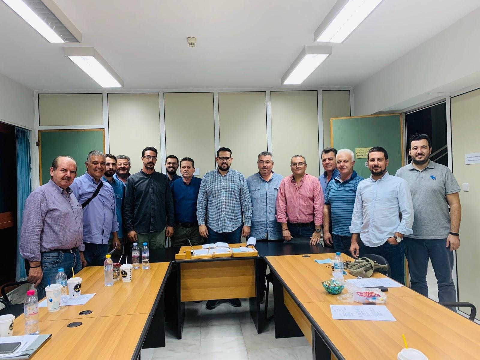 Κοινή Σύσκεψη Δ.Ε. ΓΕΩΤΕΕ ΚΕ & Δ.Σ. Γεωπονικού Συλλόγου Λάρισας