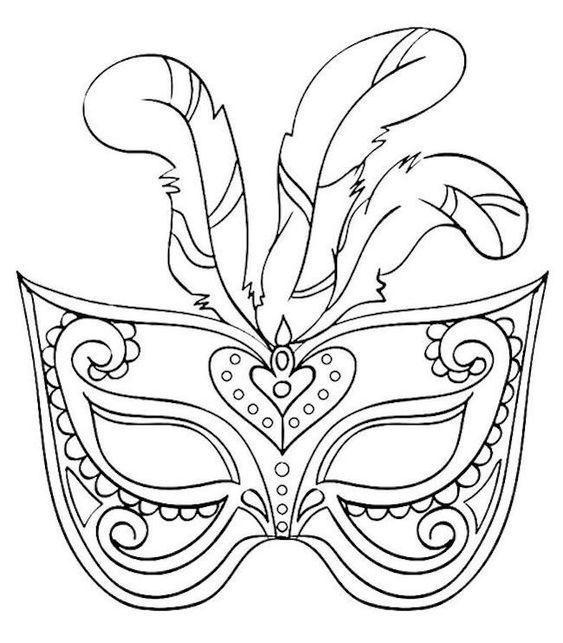 Tranh tô màu mặt nạ nữ hoàng