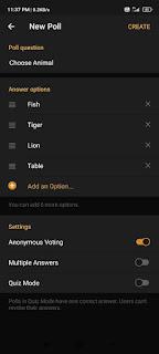 Create A Poll in a Telegram Group