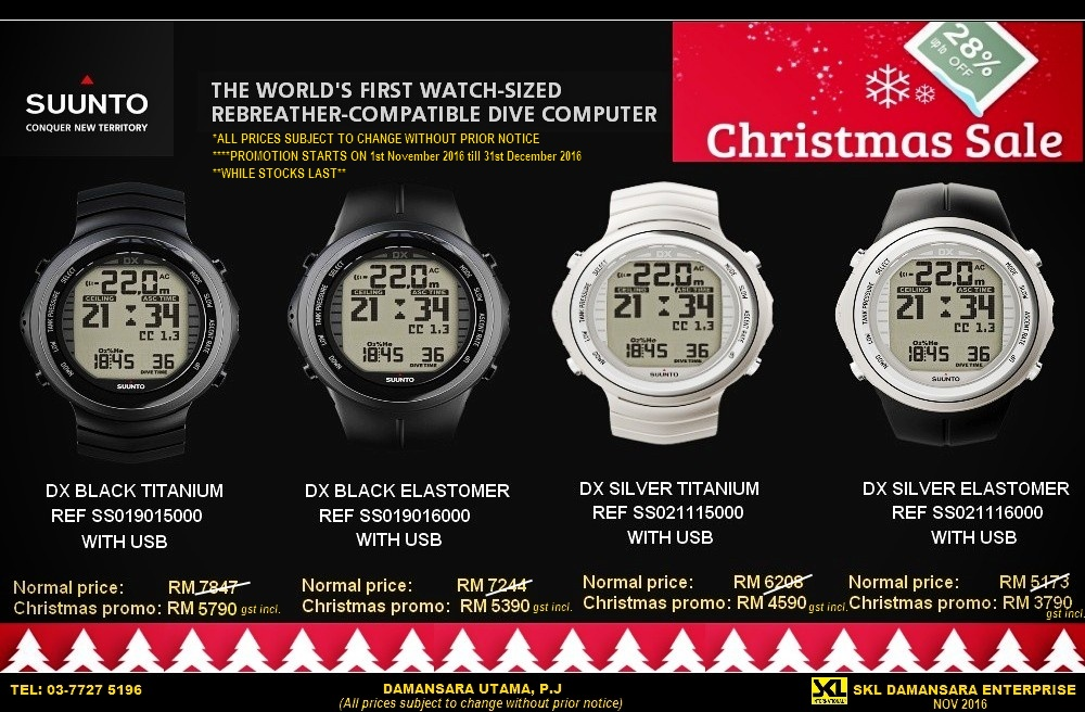 Limited Time Christmas Sales!! Suunto DX Dive Watch