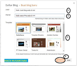 cara membuat blogger gratis di blogspot secara lengkap