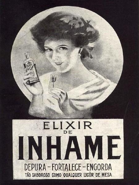 Campanha do Elixir de Inhame veiculada nos anos 20: promessa de engorda