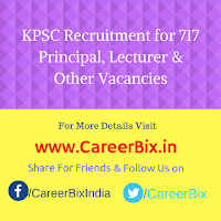 KPSC Recruitment for 717 Principal, Lecturer, Warden, SDA cum Computer Operator, Art & Drawing Teacher Vacancies