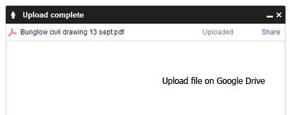 Upload Files on Google Drive