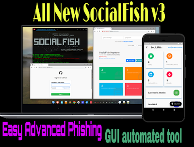 Socialfish v3 phishing toolkit for kali linux