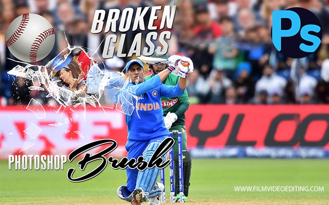 Broken Glass Brush Photoshop Free Download - Film Video Editing