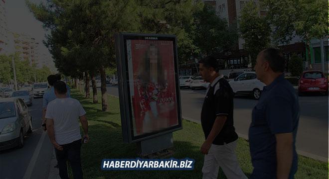 Diyarbakır halkından müstehcen içerikli reklam afişlerine tepki