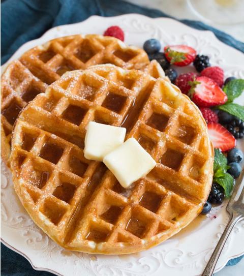 Belgian Waffle Recipe #cake #lasagnablueberry #maknyus #desserts #cakes