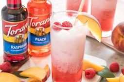 Raspberry Peach Italian Cream Sodas #healthydrink #easyrecipe