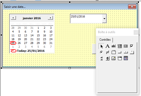 Vba Les Activex De Controle Des Dates