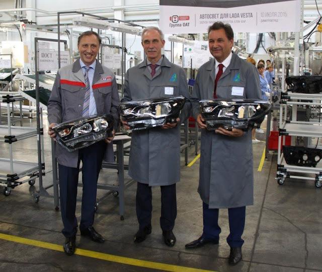 сборка светотехники для седана Lada Vesta