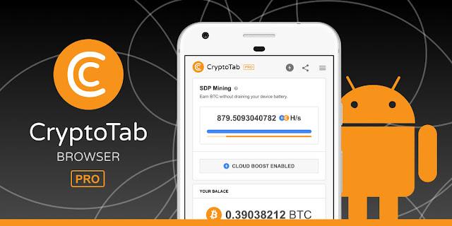 CryptoTab la soluzione per minare (frazioni di) Bitcoin con vecchi smartphone