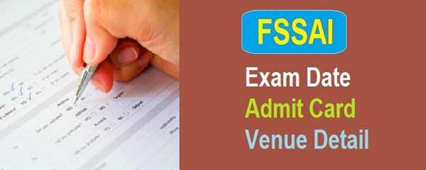 FSSAI Exam Date