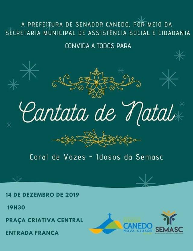 Senador Canedo: Coral dos Idosos apresenta hoje a Cantata de Natal na Praça Criativa