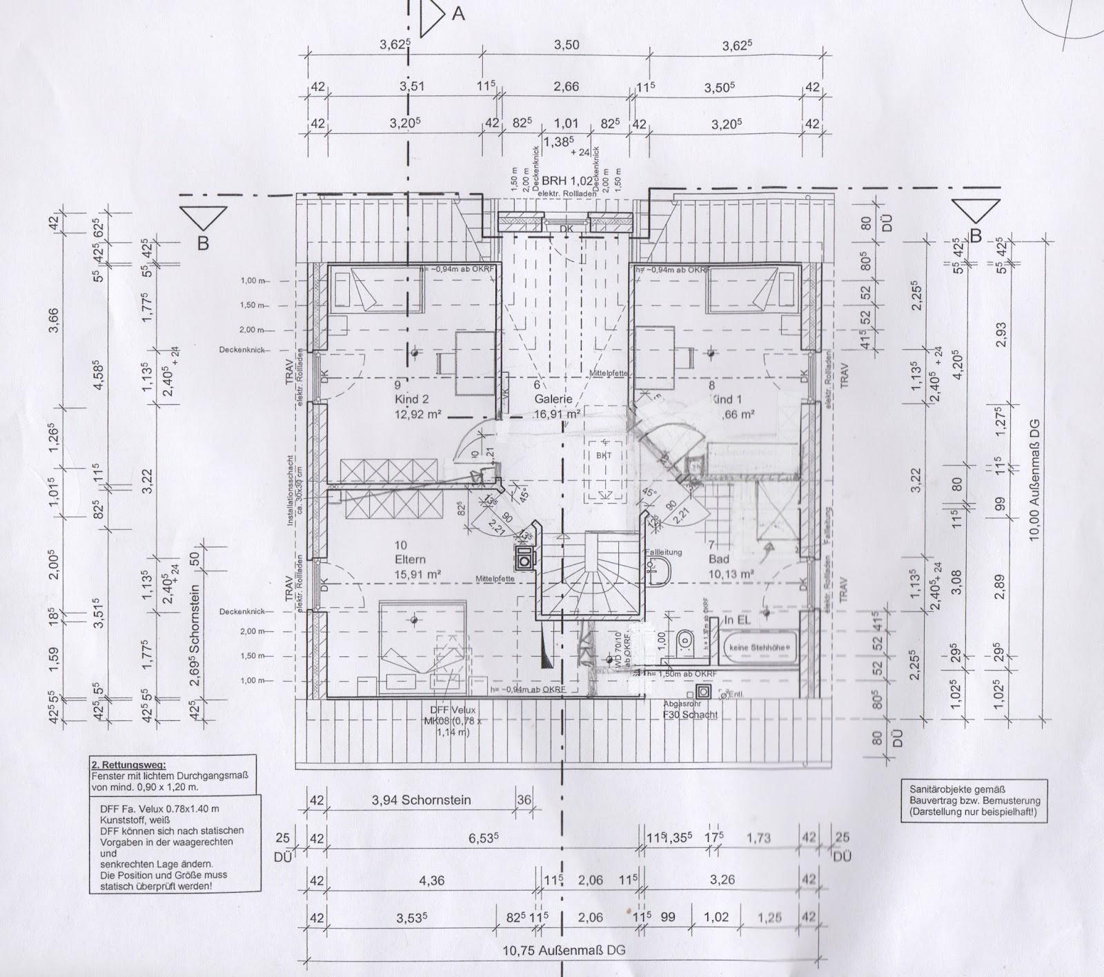 Küchenpläne erster entwurf vom architekten inkl überarbeitung wir bauen mit