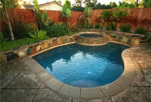 10 contoh desain kolam renang mungil, kolam renang mini