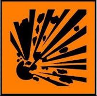 Mudah meledak (Explosive) - simbol kimia