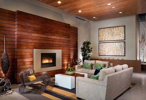 Có nên ốp tường gỗ phòng khách phòng ngủ bằng gỗ Tự nhiên và công nghiệp?