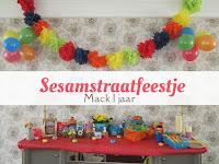Sesamstraatfeestje - Mack 1 jaar