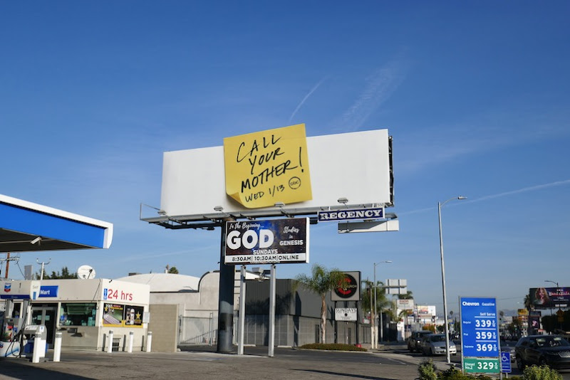 Call Your Mother Post it note billboard