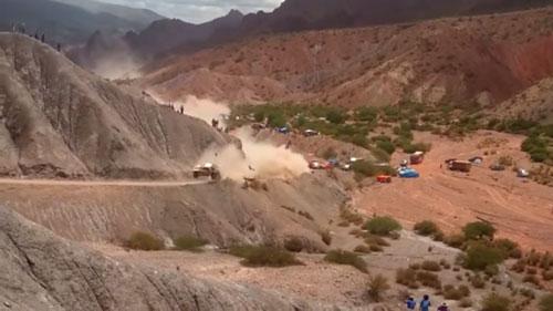 Video accidente de Carlos Sainz a poco de llegar a Tupiza