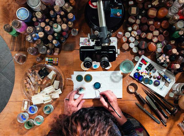 Anita Porchet in her atelier